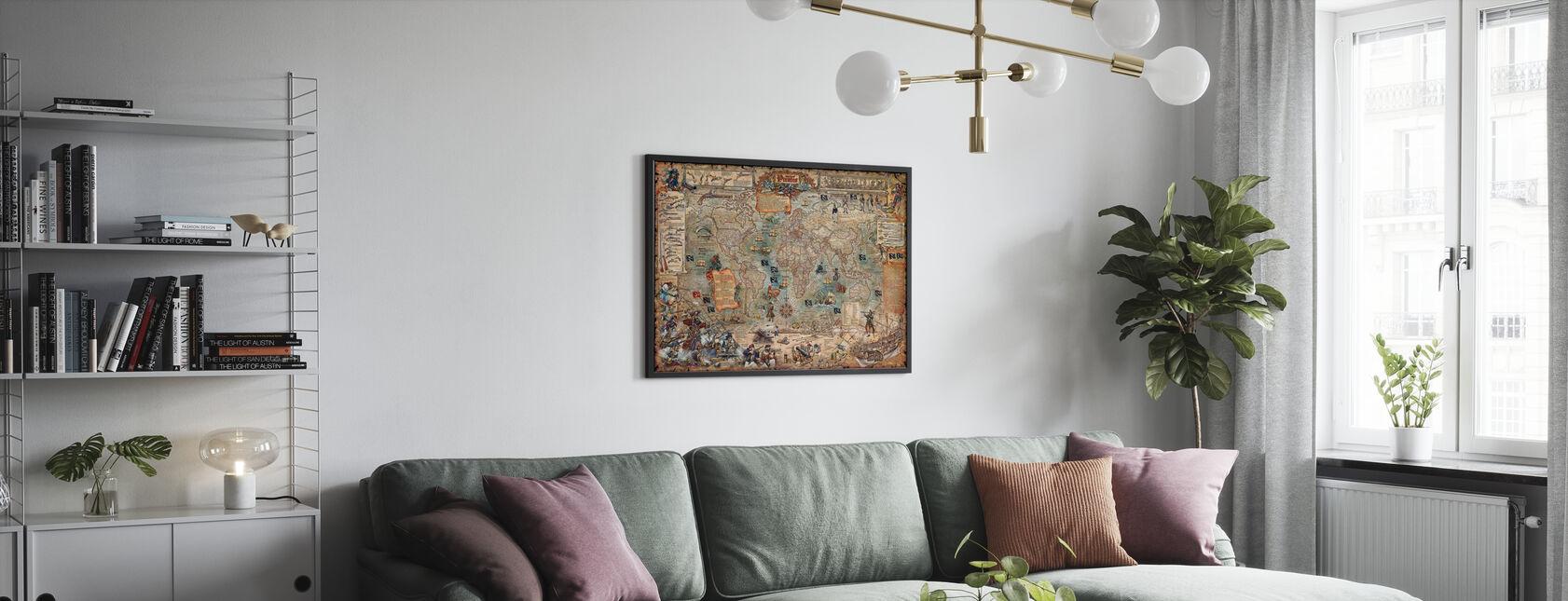 Mapa Pirata - Póster - Salón