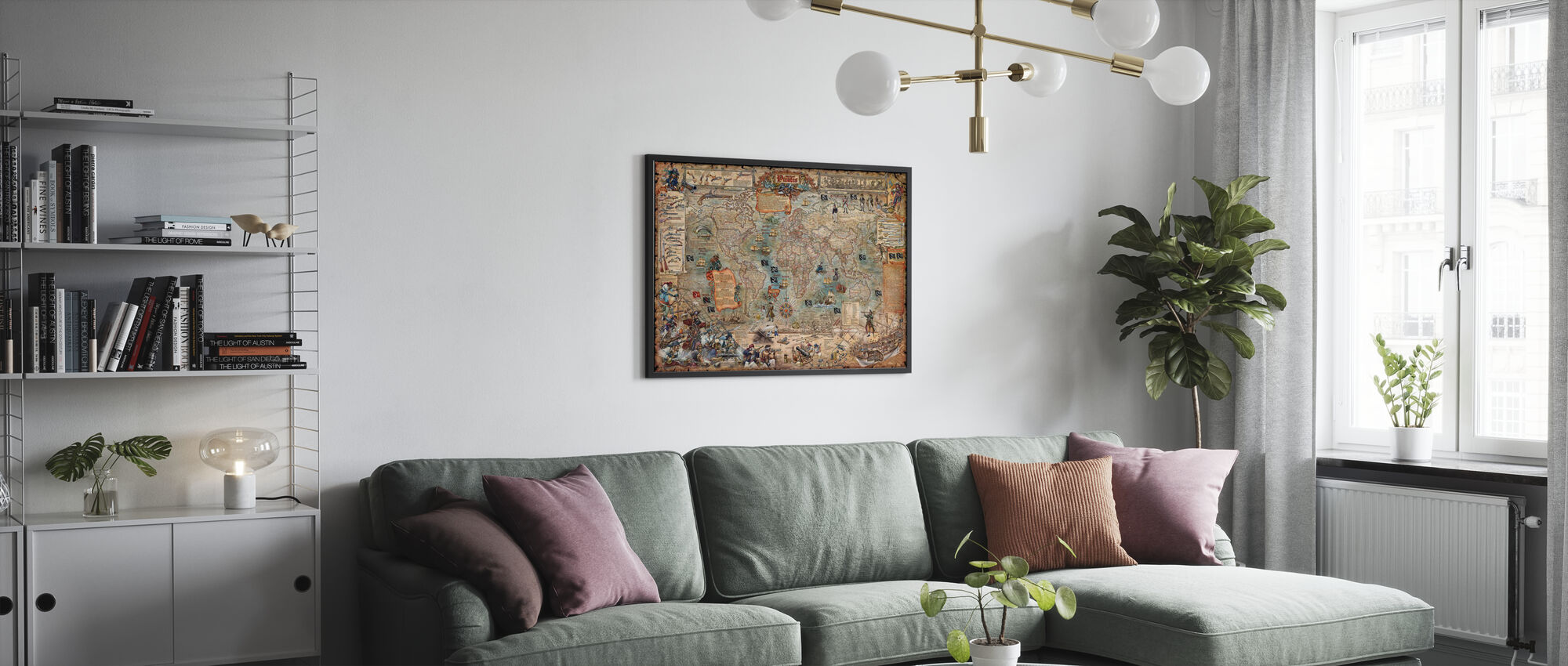 Pirate Map - Poster - Living Room