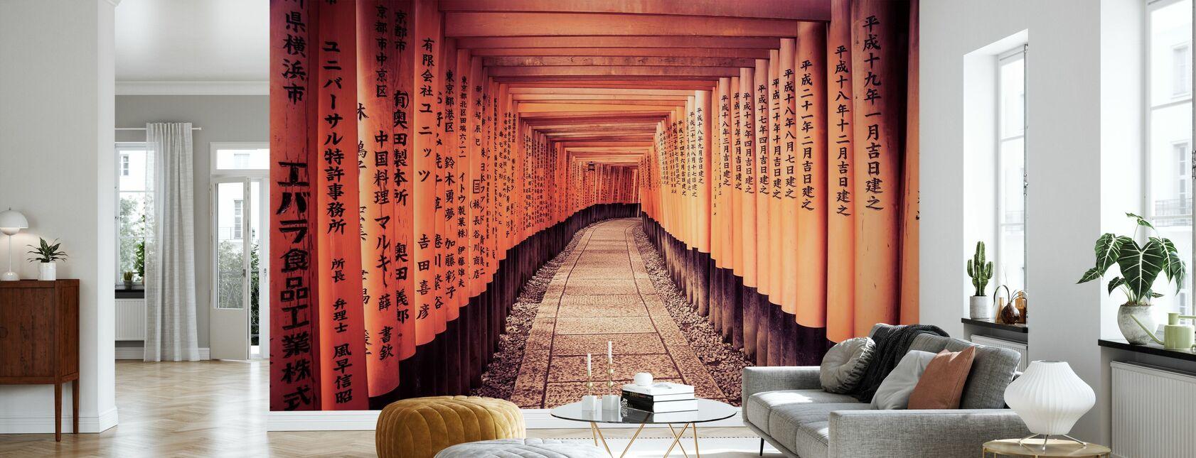Historiske Kyoto Gates i Japan - Tapet - Stue