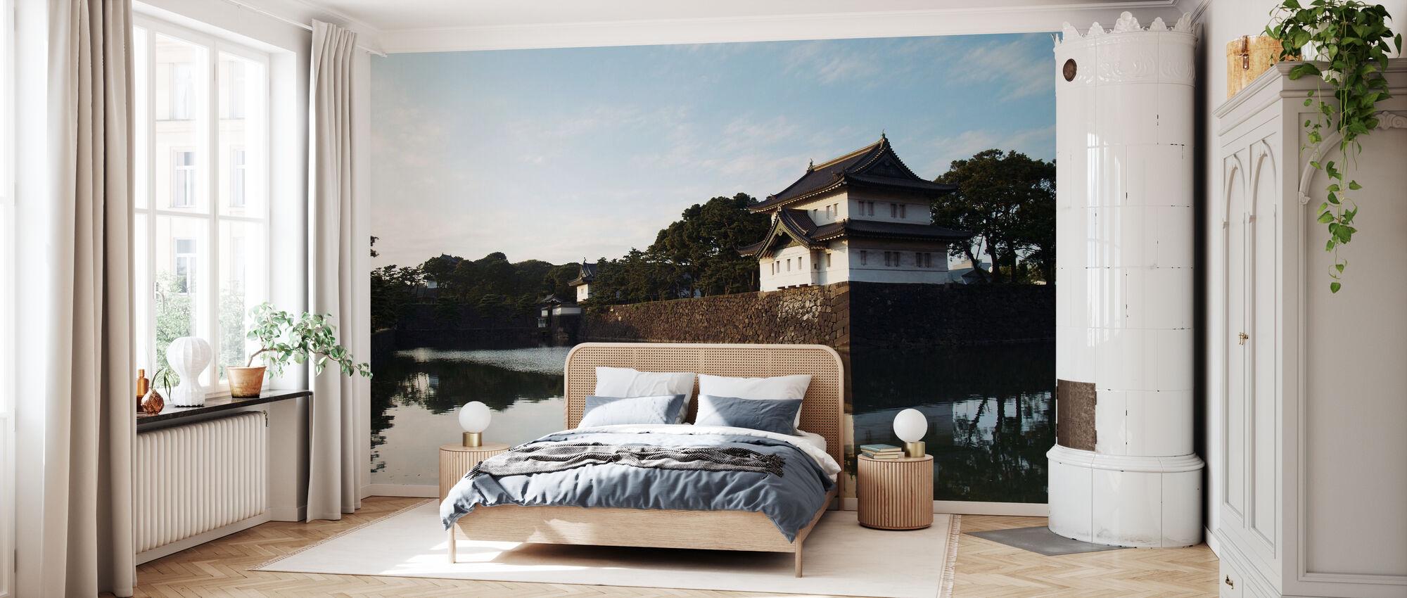 Imperial Japansk Palace i Tokyo i skumringen - Tapet - Soveværelse
