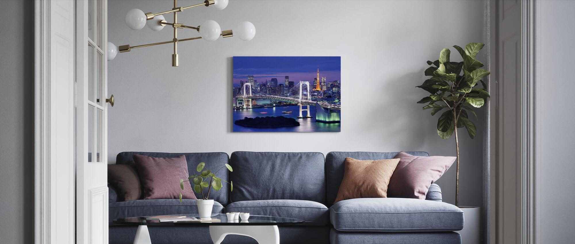 Rainbow Bridge ja Tokio Tower - Canvastaulu - Olohuone
