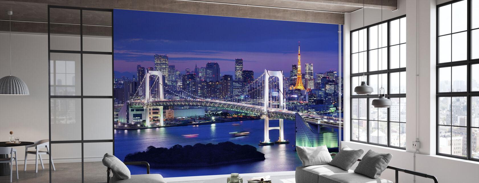 Rainbow Bridge ja Tokio Tower - Tapetti - Toimisto