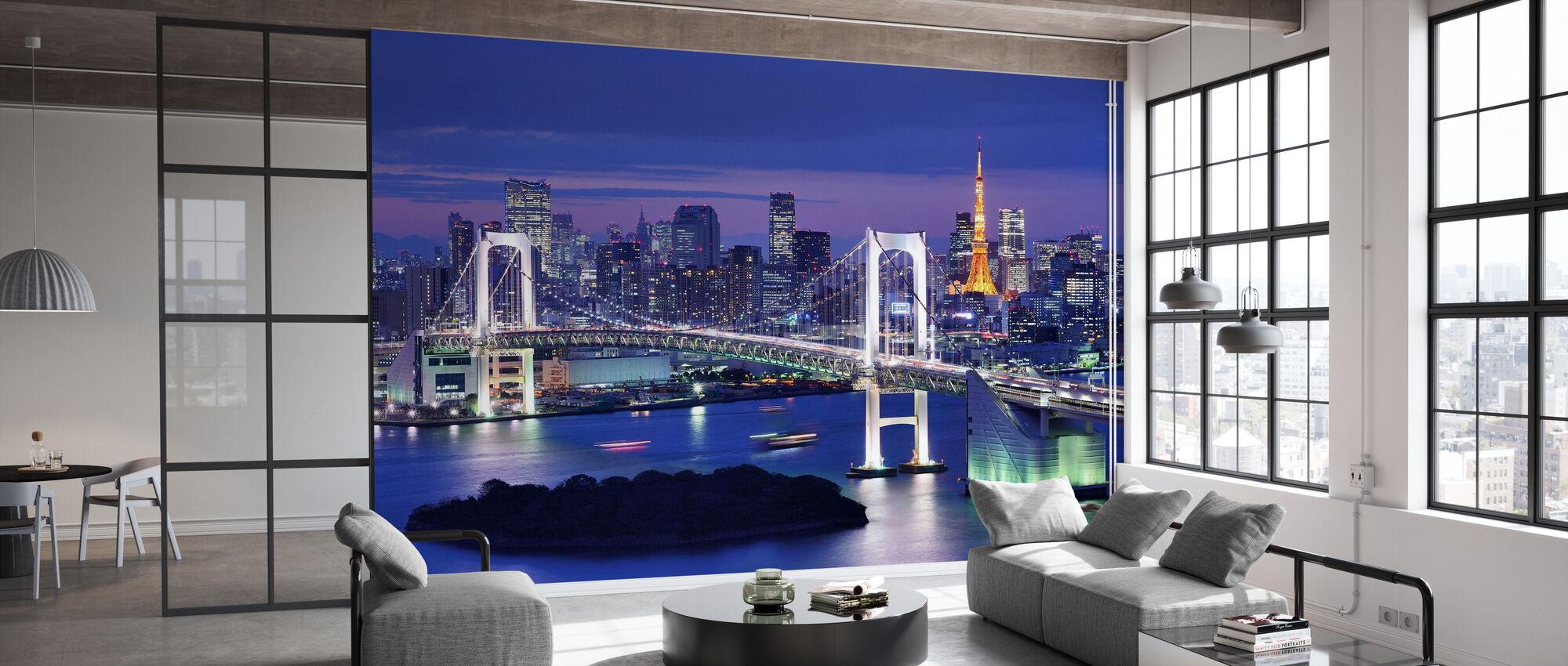 Regnbågsbron och Tokyo Tower - Tapet - Kontor