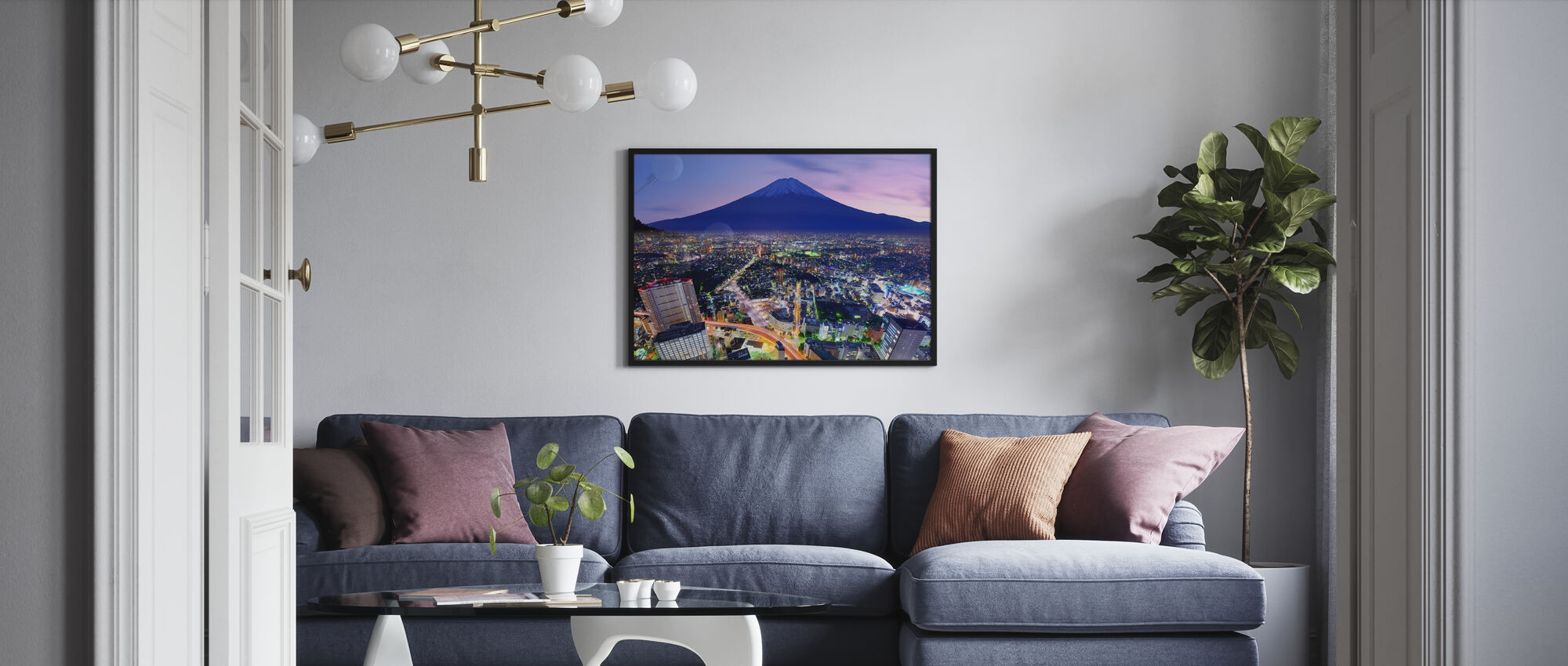 Ueno District en Mt. Fuji in Tokio, Japan - Ingelijste print - Woonkamer