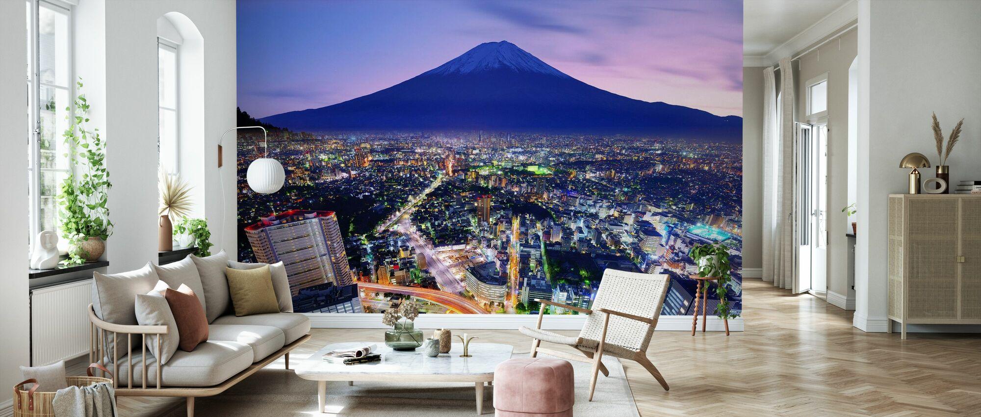 Ueno District and Mt. Fuji in Tokyo, Japan - Wallpaper - Living Room