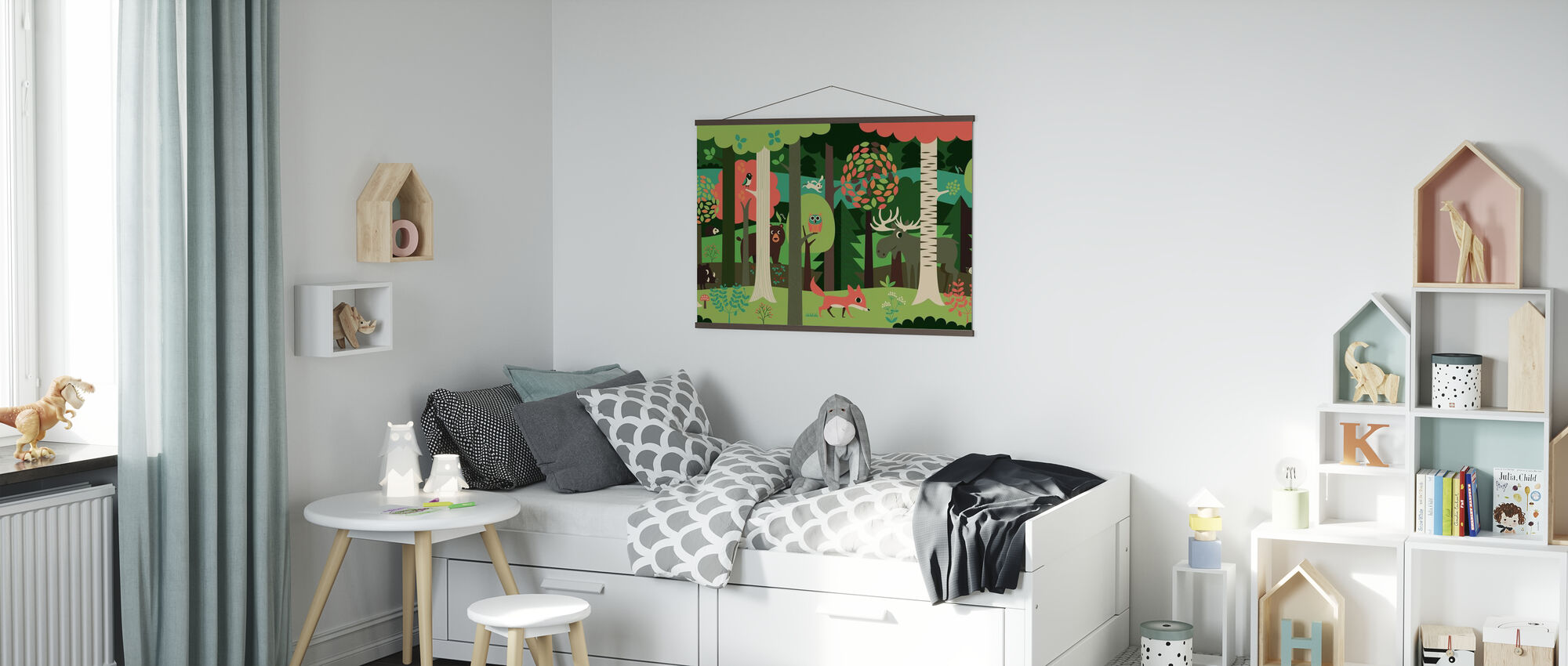 In the Forest - Green - Poster - Kids Room