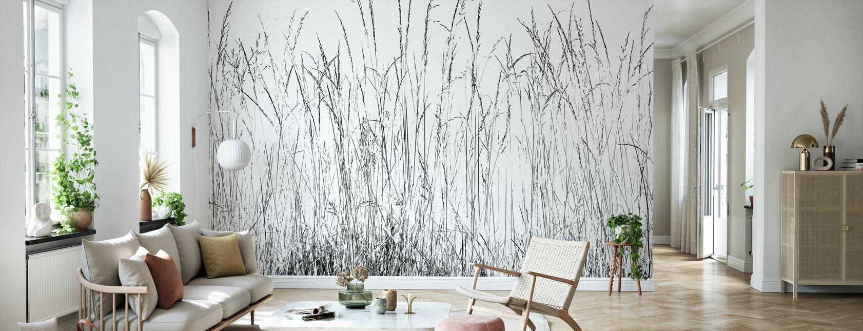 Grass Blades bw - Wallpaper - Living Room