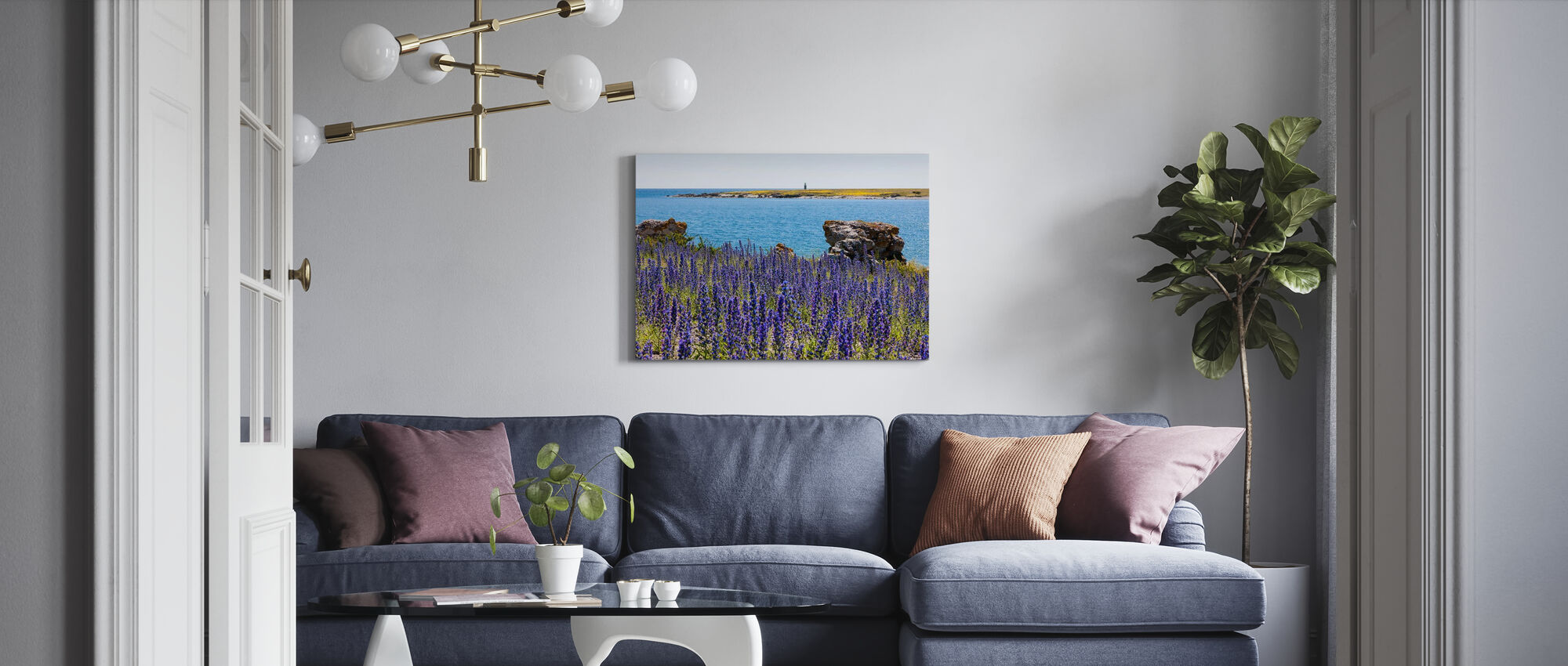 Gotlands Sommarlandskap - Canvastavla - Vardagsrum