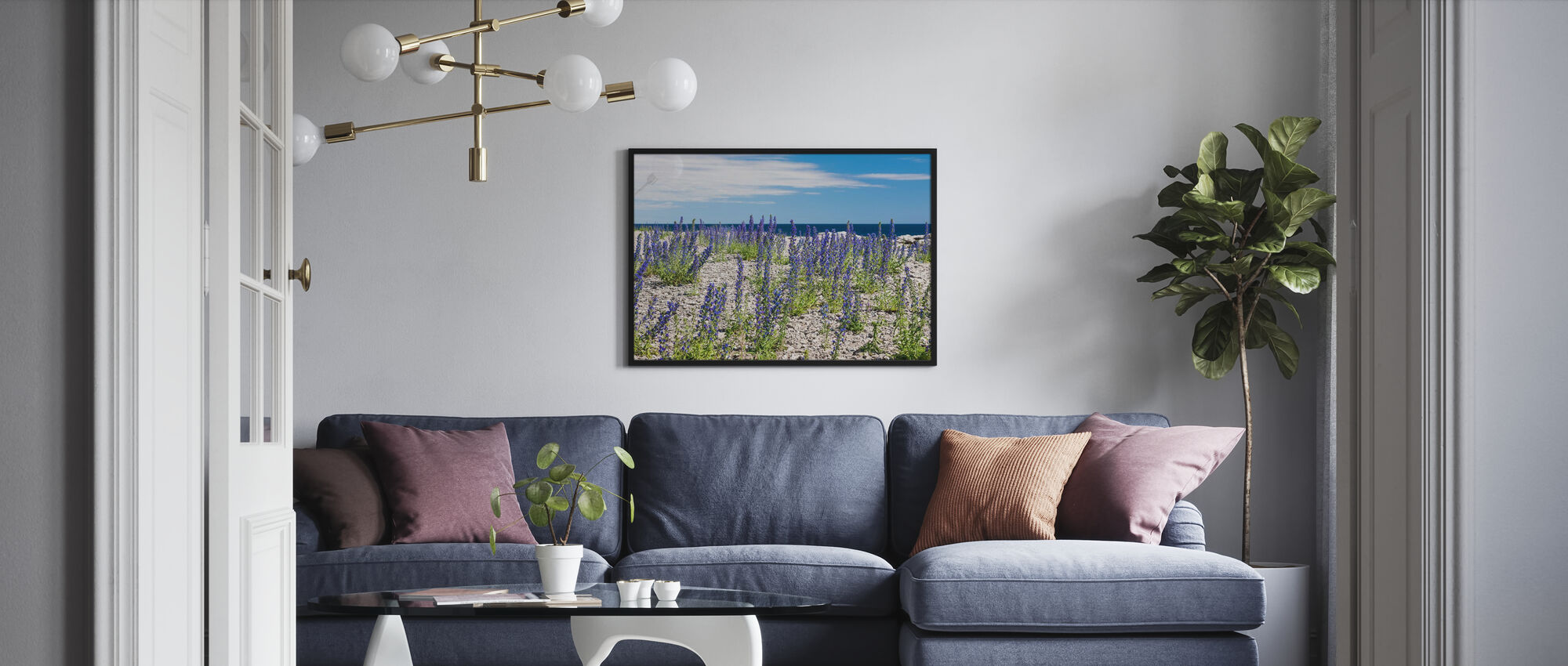 Blueweed - Framed print - Living Room