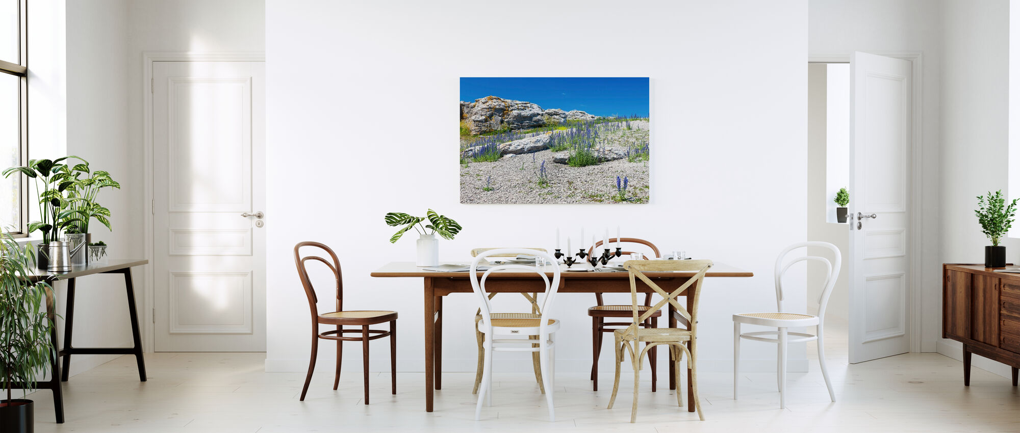 Rock Landscape in Gotland - Canvas print - Kitchen