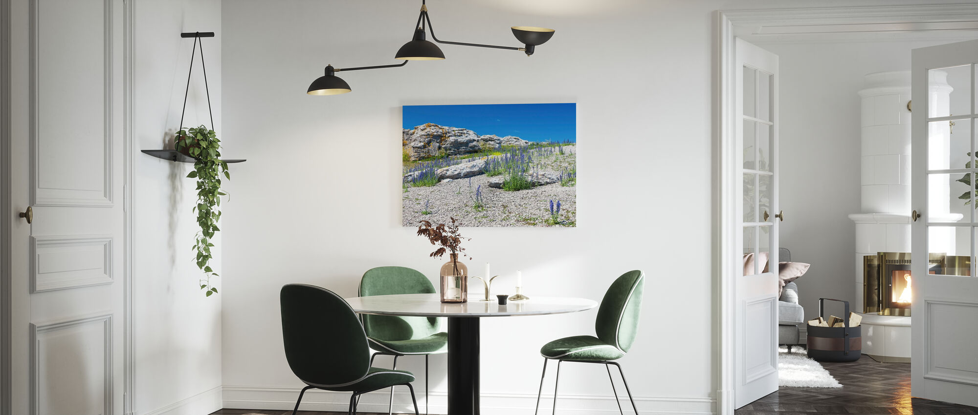 Rock Landscape in Gotland - Canvas print - Kitchen