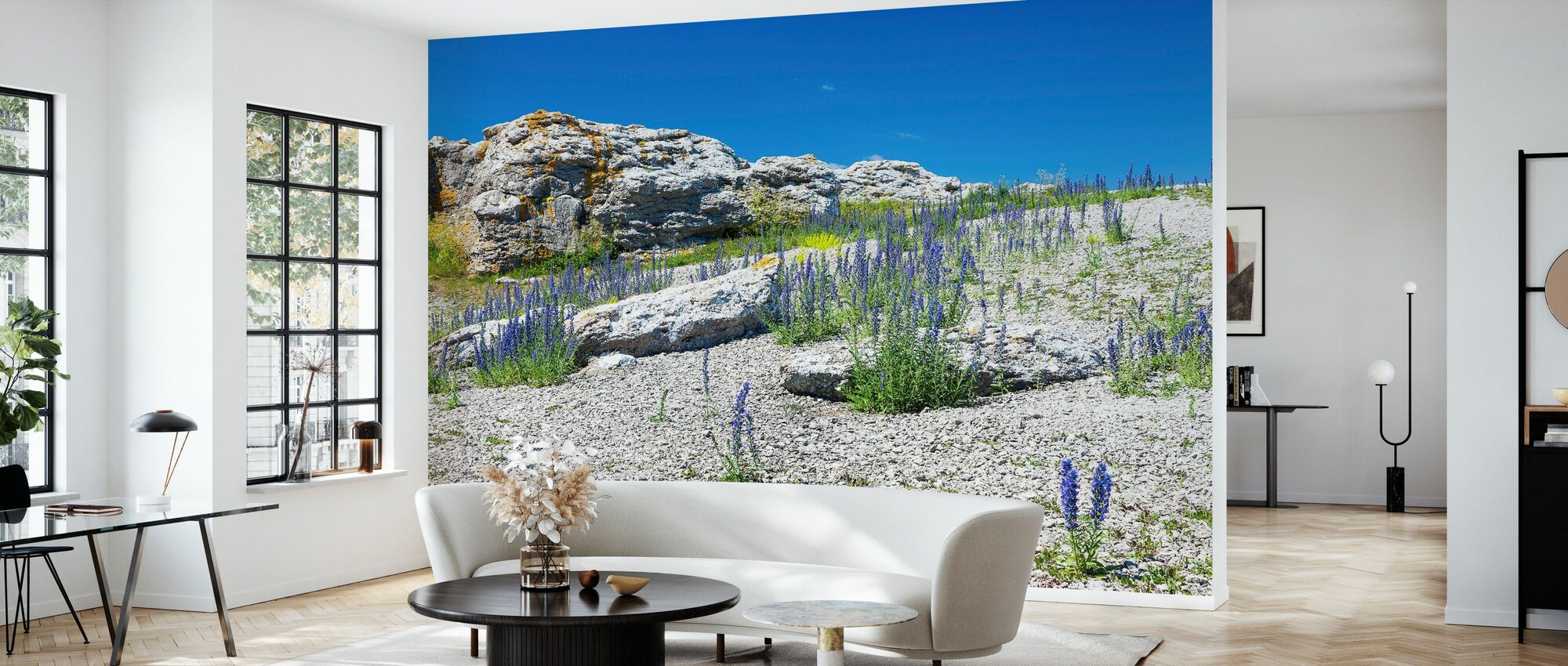Rock Landscape in Gotland - Wallpaper - Living Room