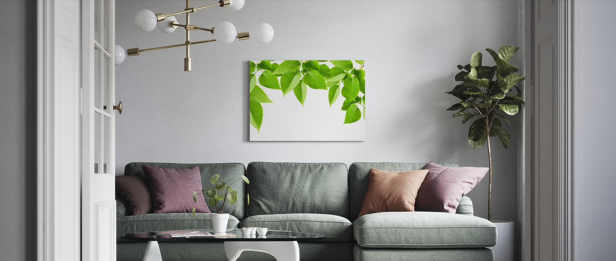 Groene bladeren Frame - Canvas print - Woonkamer