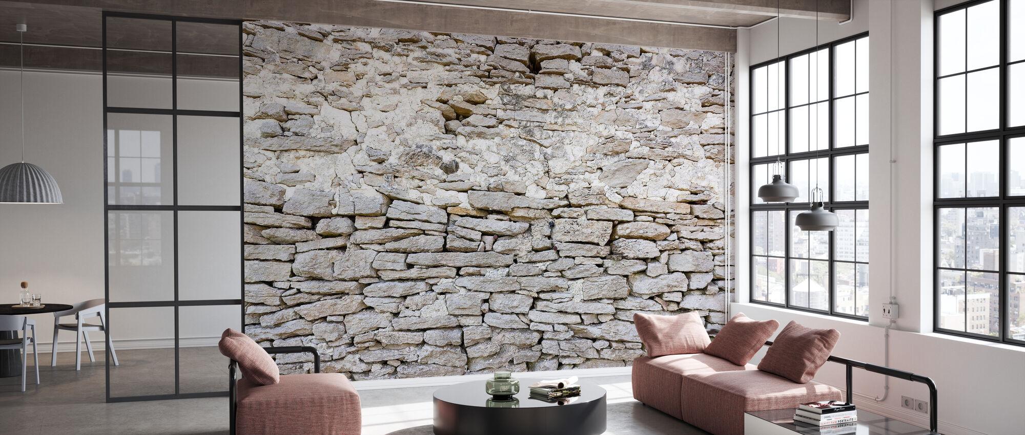 Oude Stenen Muur - Behang - Kantoor