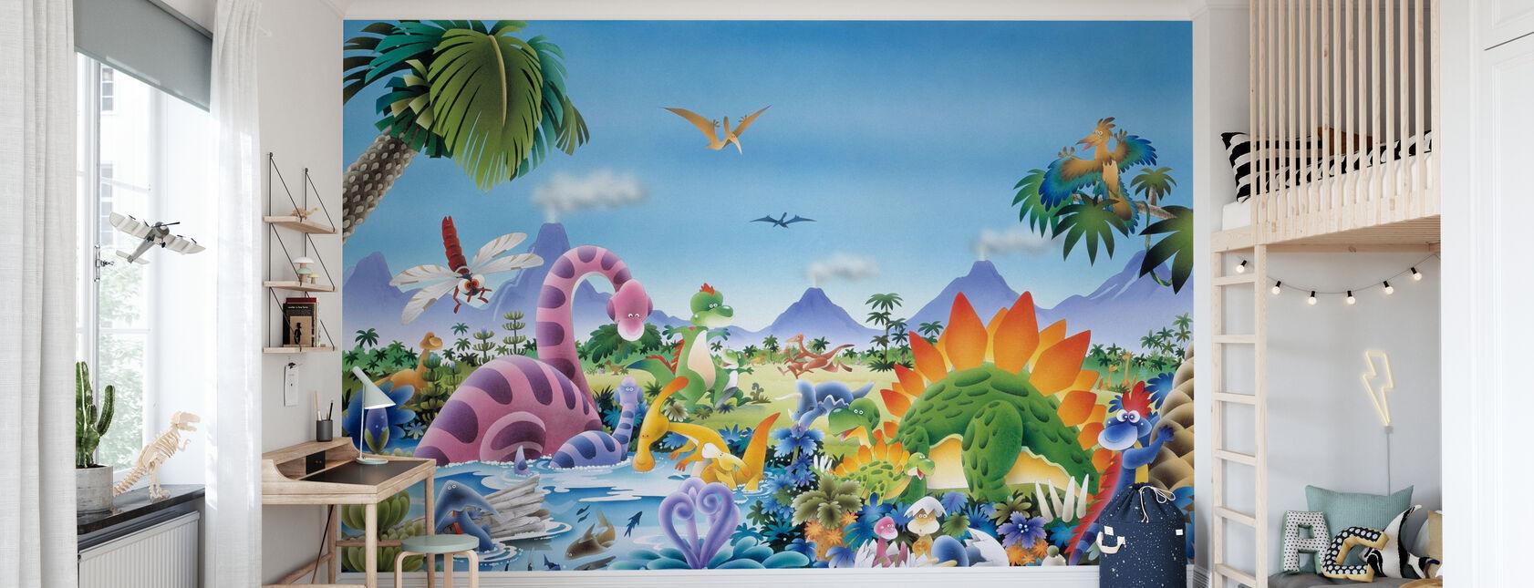 Tierra de dinosaurios - Papel pintado - Cuarto de niños