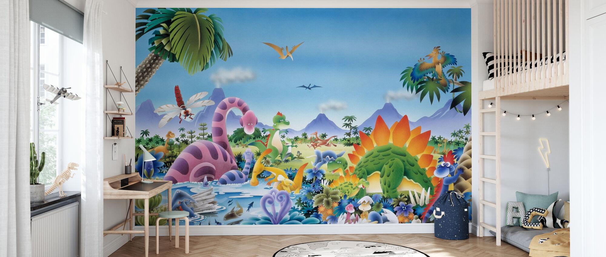 Dinosaur Land - Wallpaper - Kids Room