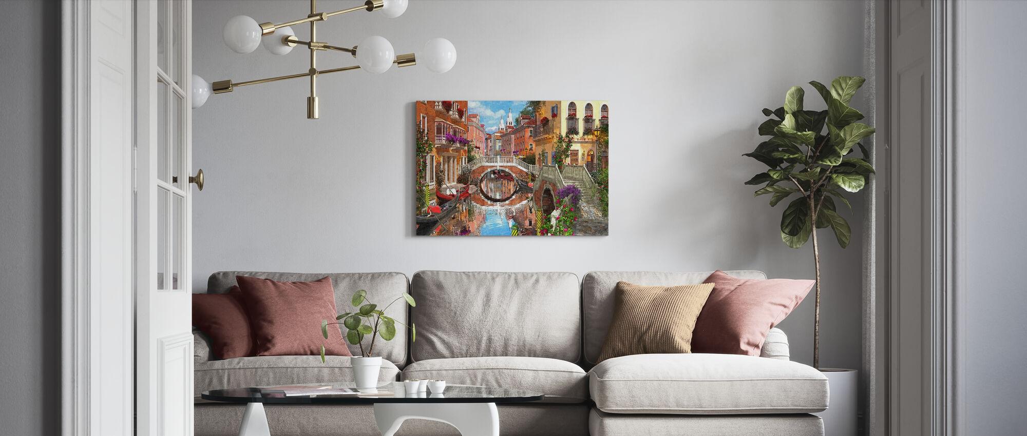 Venetian Waterway - Canvas print - Living Room