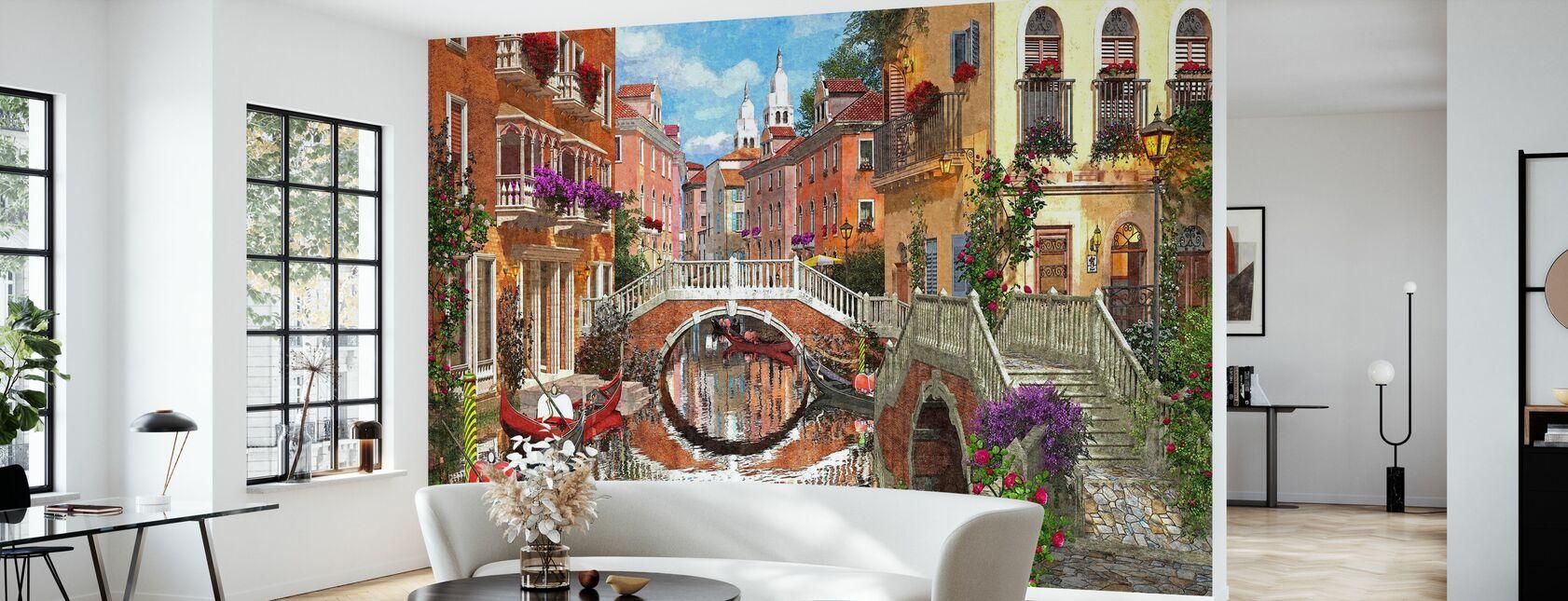 Venetiansk vandvej - Tapet - Stue