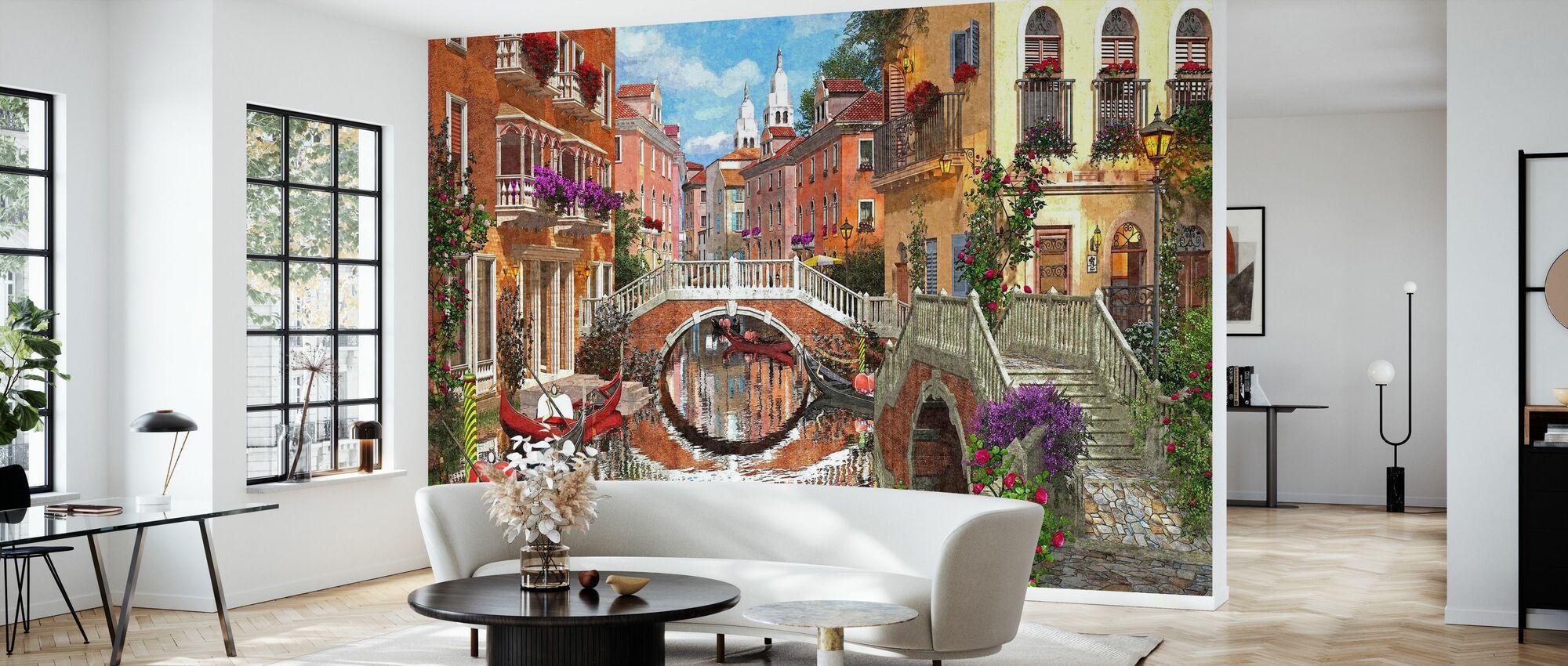 Venetian Waterway - Wallpaper - Living Room