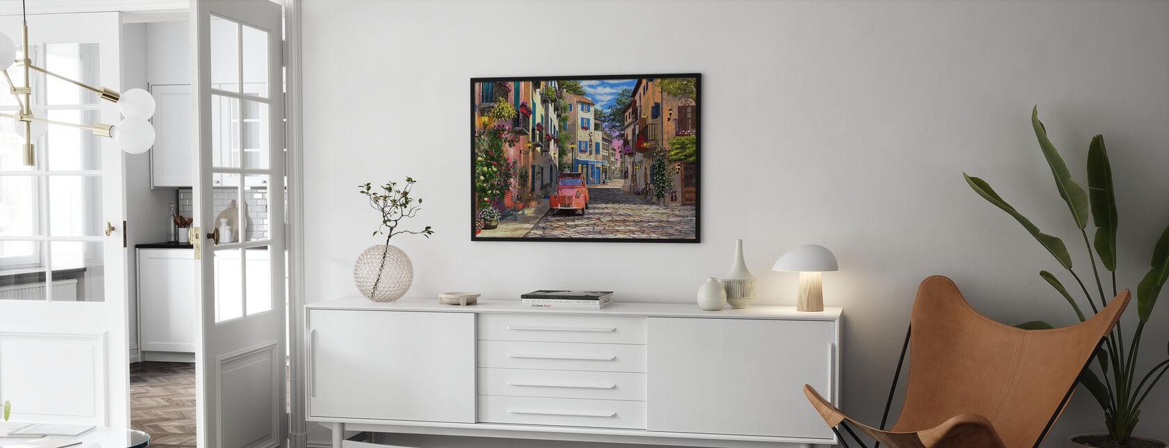 Rue Francais - Inramad tavla - Vardagsrum