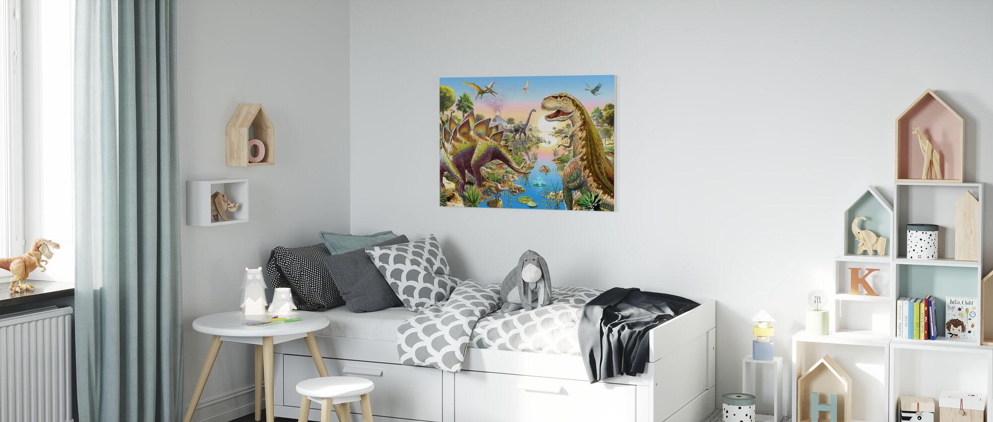 Jurassic River - Lerretsbilde - Barnerom