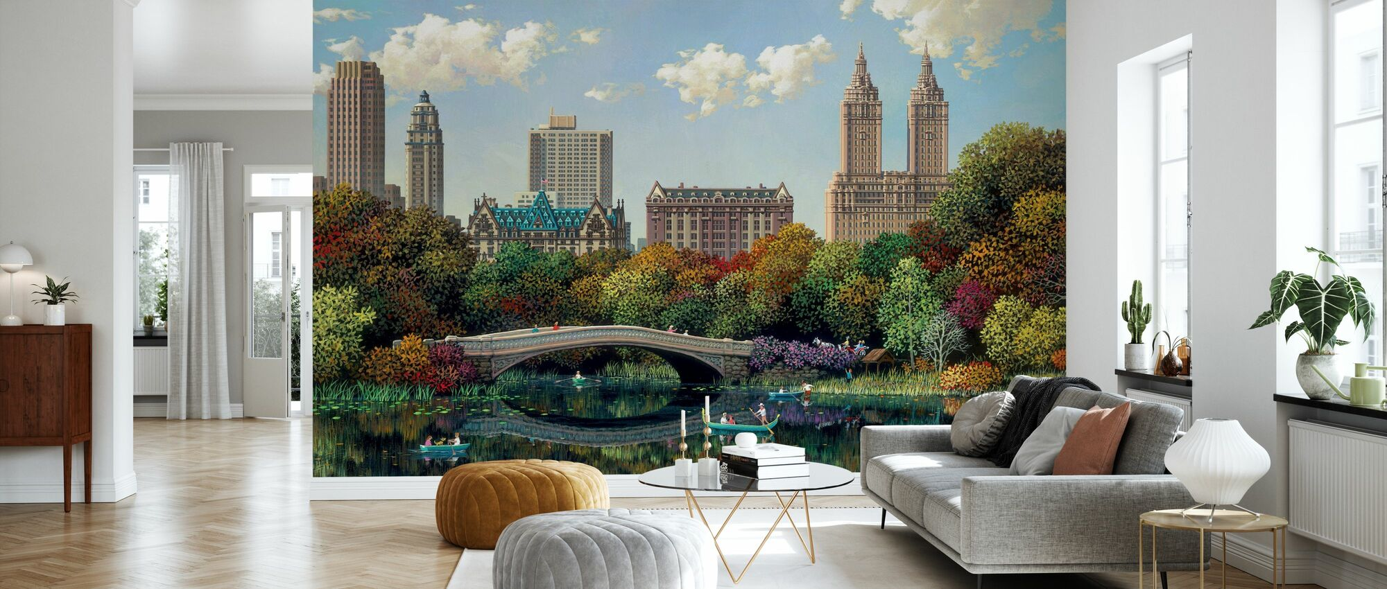 Central Park Bow Bridge - Wallpaper - Living Room