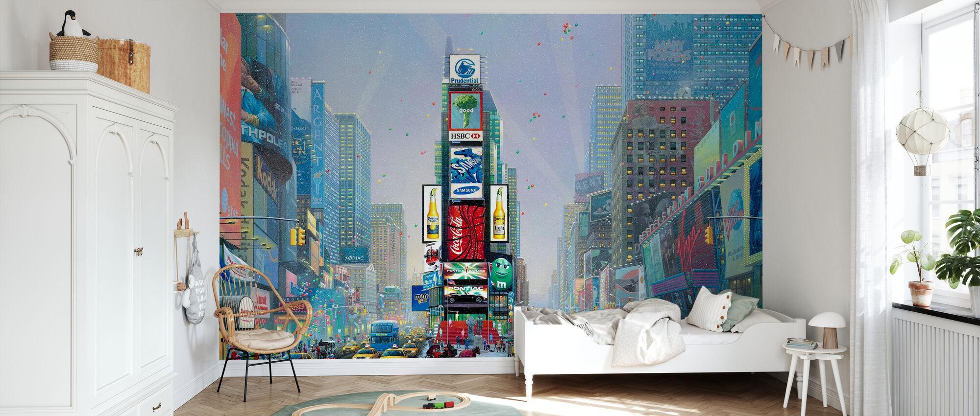 New York-Times Square Winter - Wallpaper - Kids Room