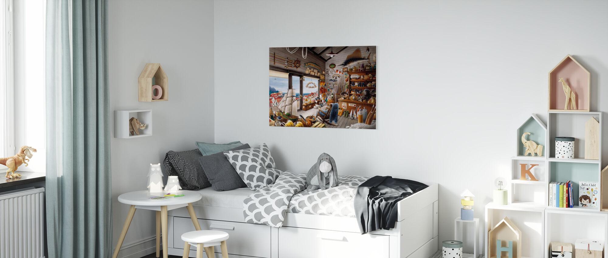 Fishing Shop - Canvas print - Kids Room