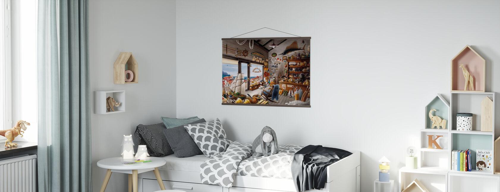 Fishing Shop - Poster - Kids Room