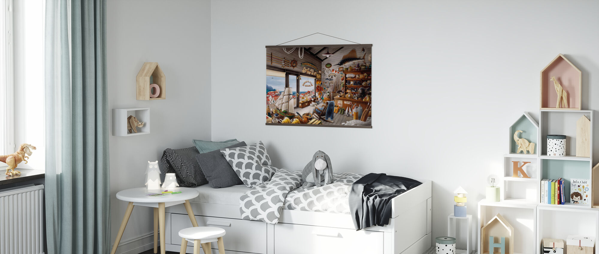 Fishing Shop - Poster - Kids Room