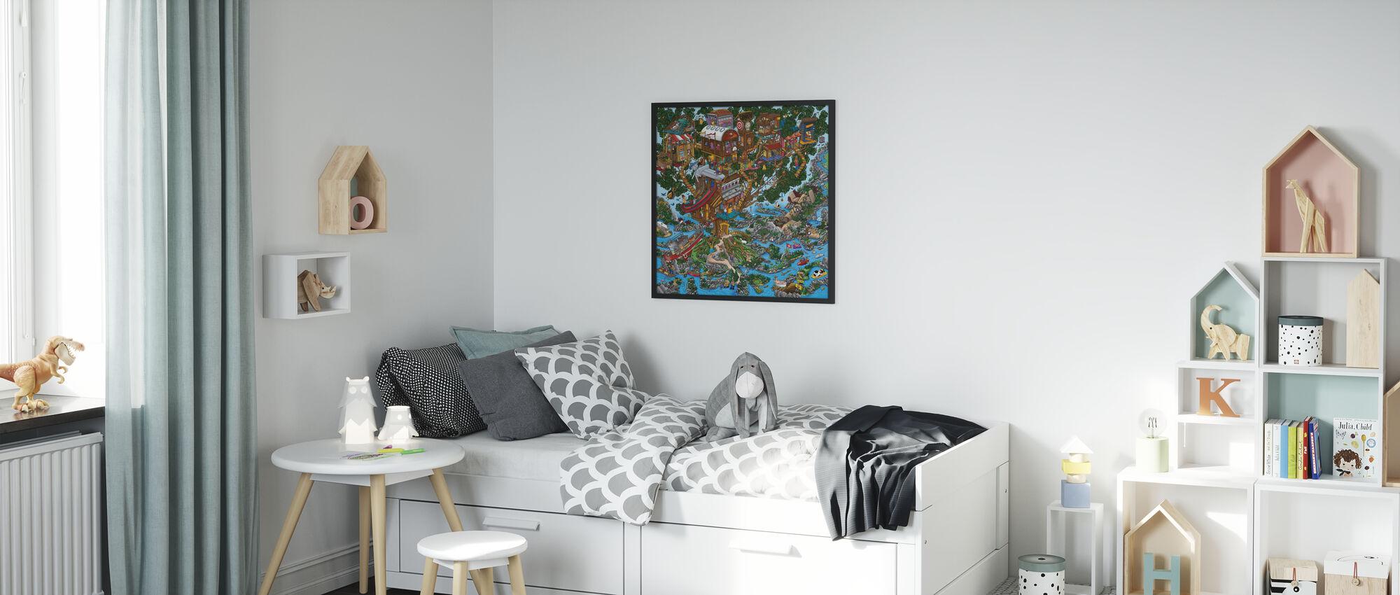 The Treehouse - Framed print - Kids Room