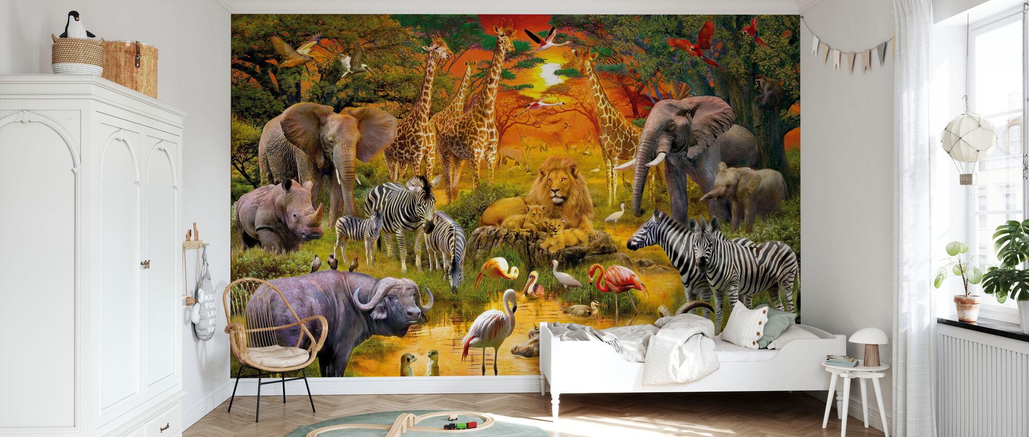 Afrikaanse harmonie - Behang - Kinderkamer