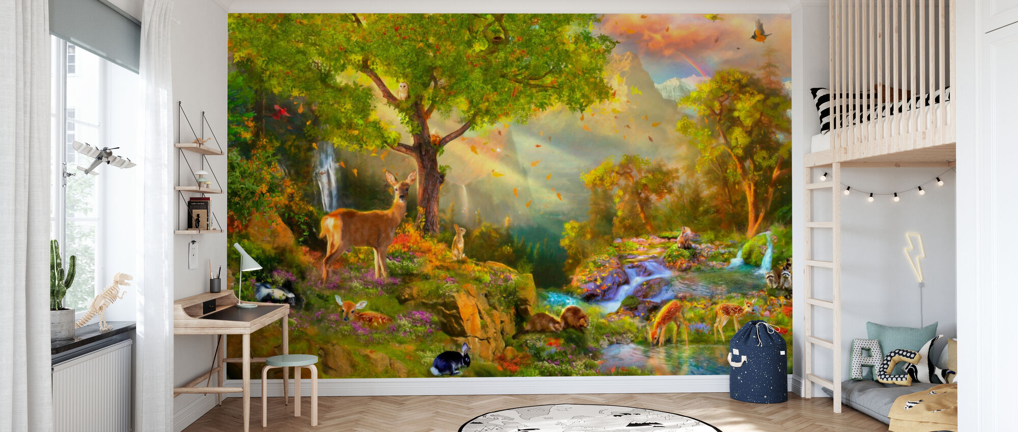 Fawn Mountain - Wallpaper - Kids Room