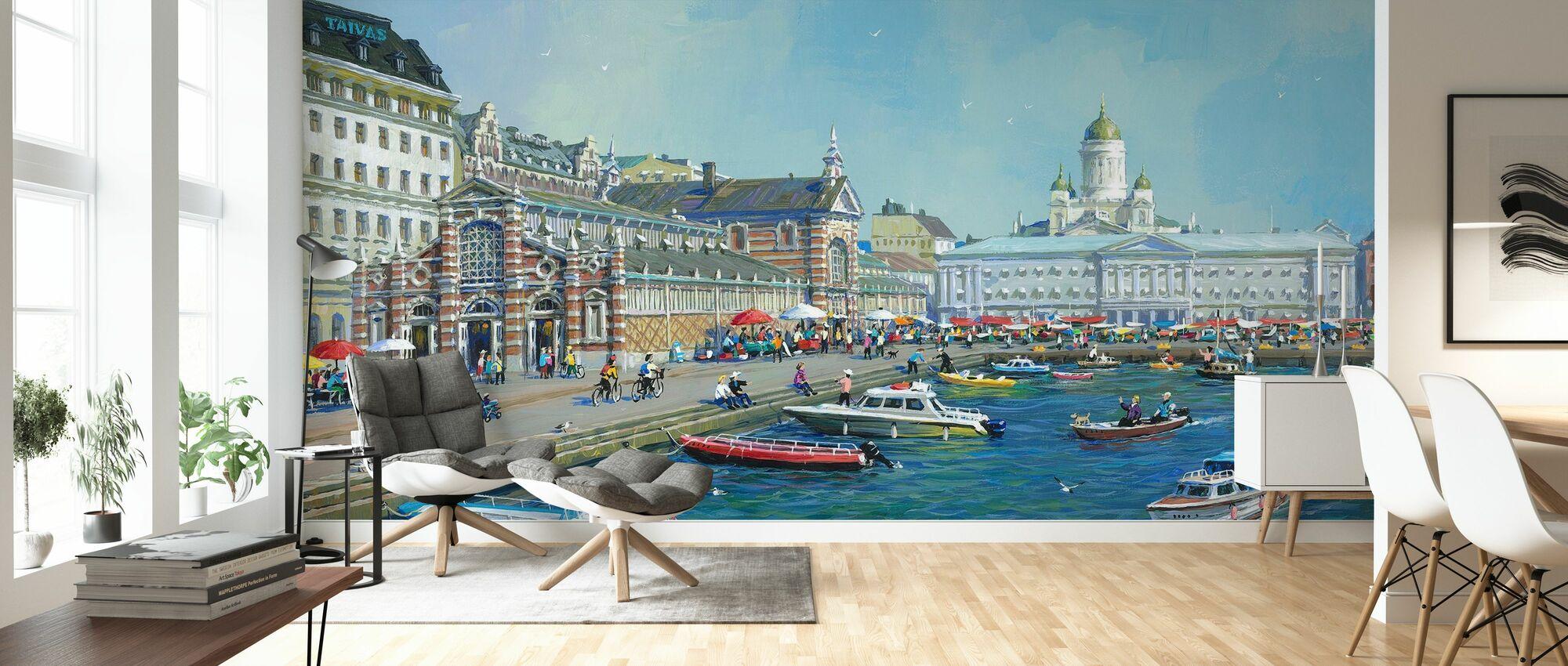 Helsinki Market - Wallpaper - Living Room