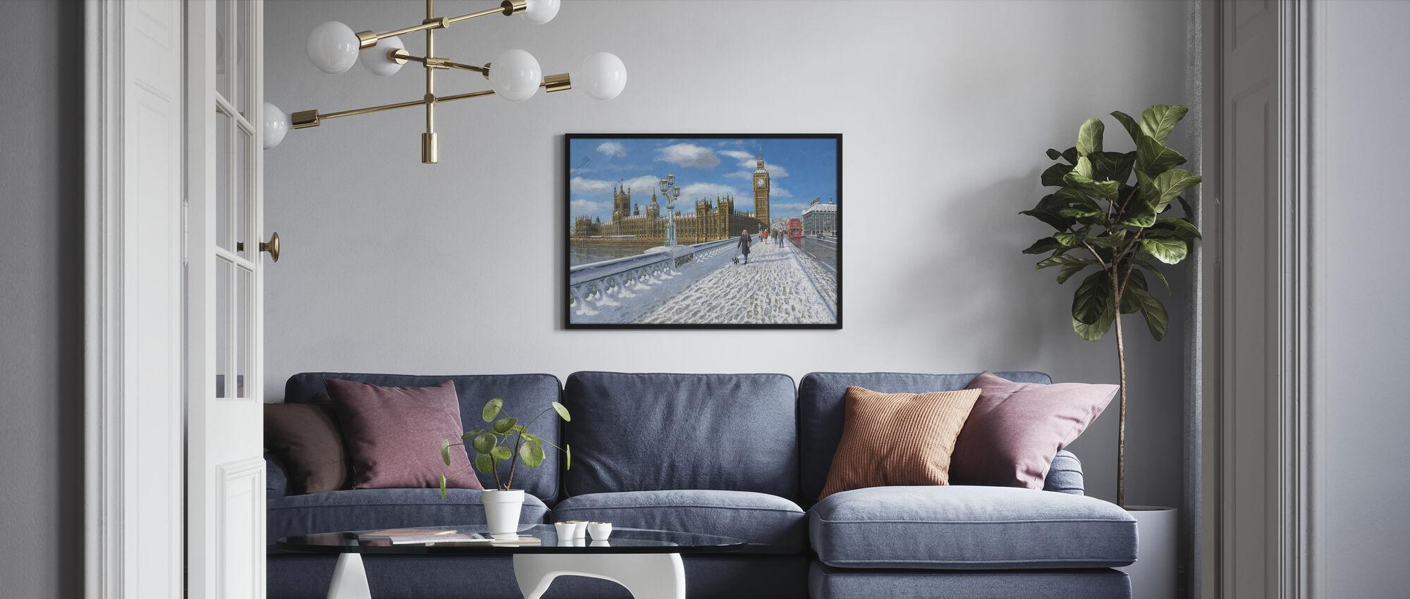 Winter sun Houses of Parliament - London - Framed print - Living Room