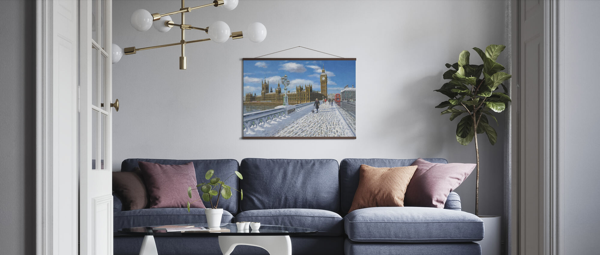 Winter sun Houses of Parliament - London - Poster - Wohnzimmer