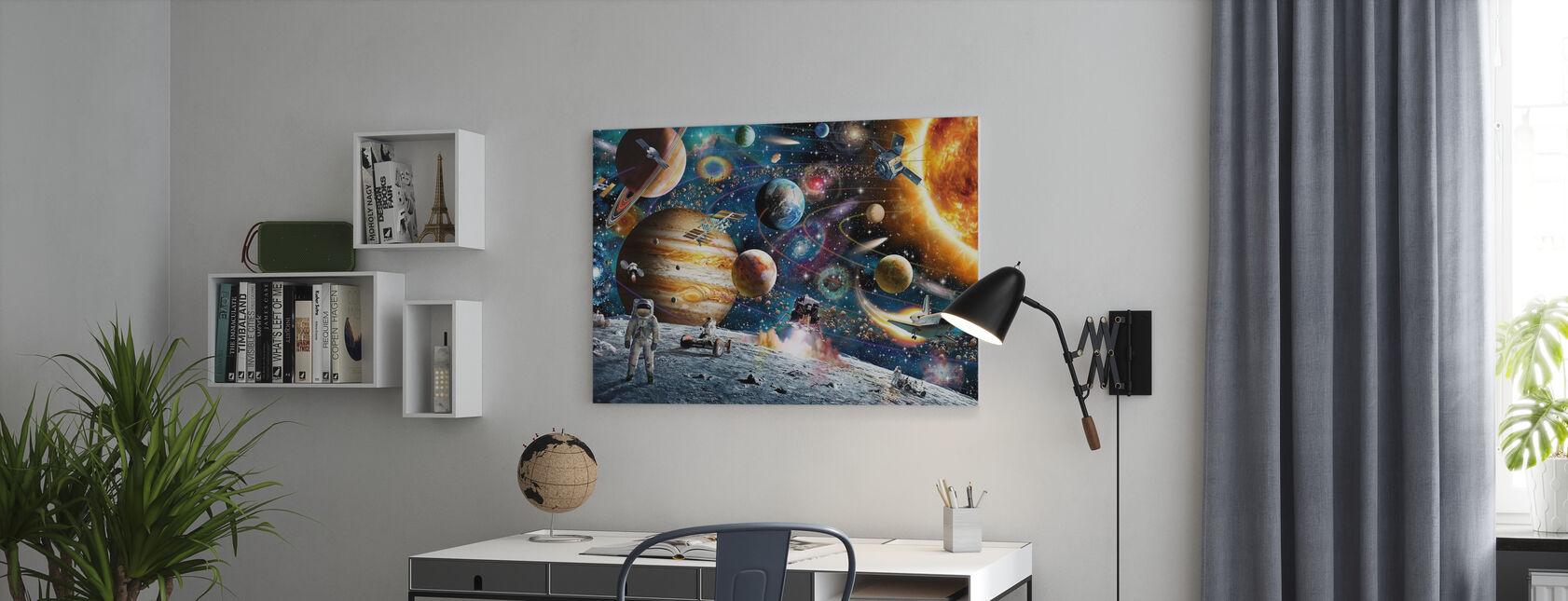 Odyssée spatiale - Impression sur toile - Bureau