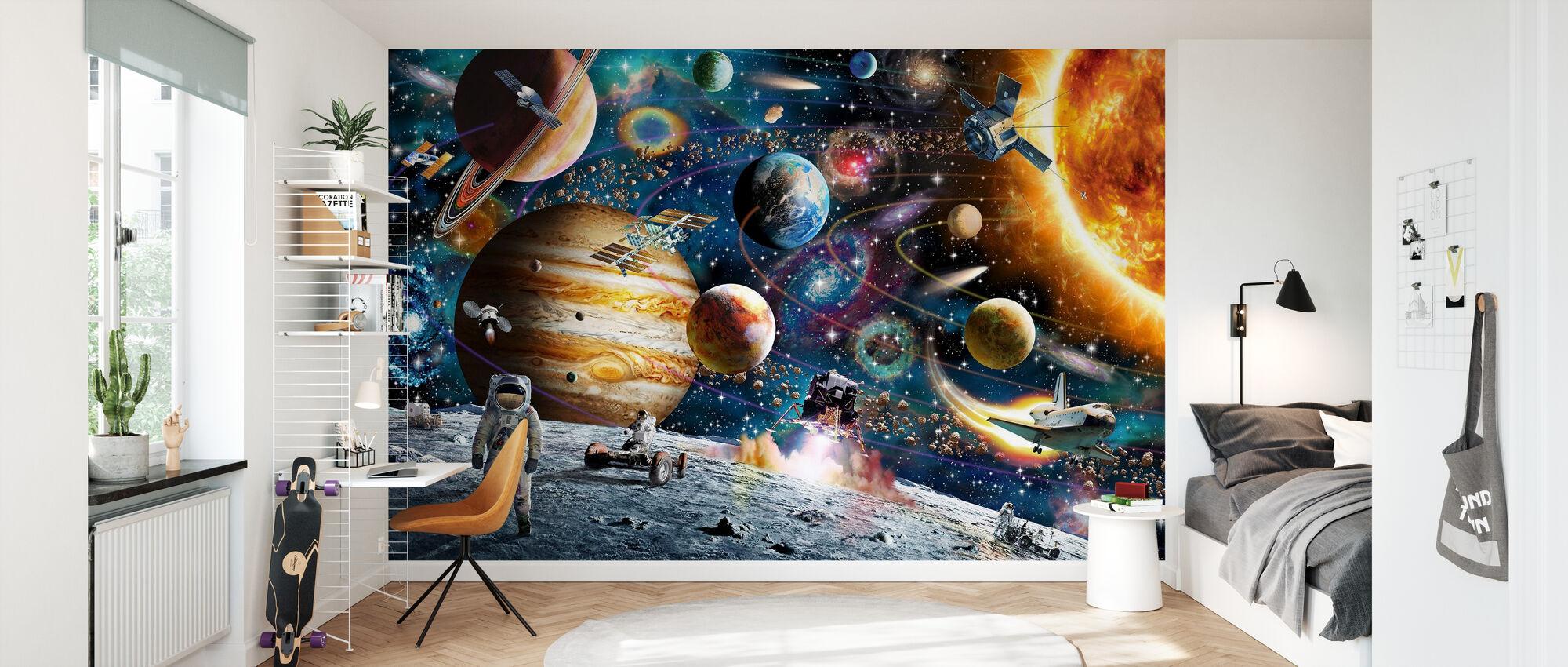 Kosmiczna Odyseja - Tapeta - Pokój dziecięcy