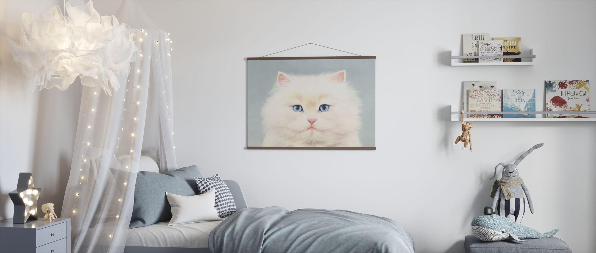 White Persian - Poster - Kids Room