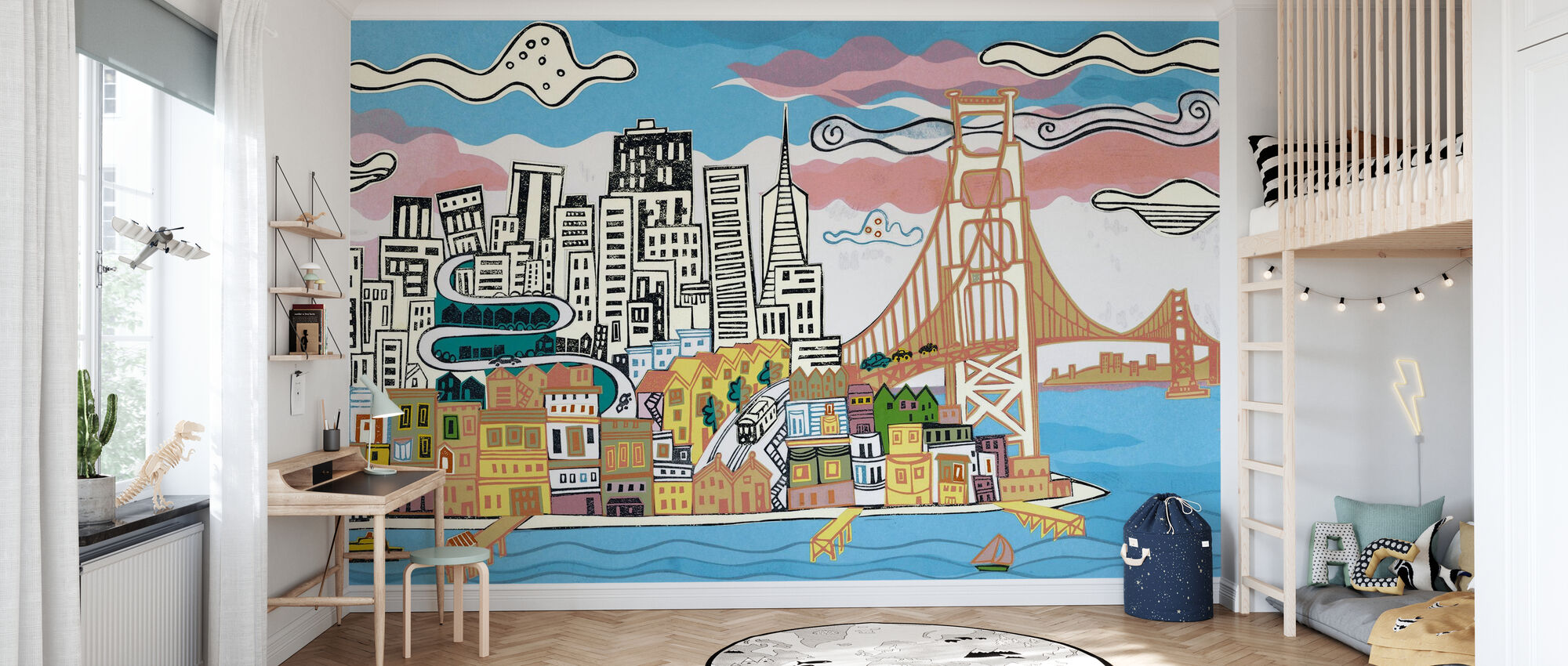 San Francisco Bay - Wallpaper - Kids Room