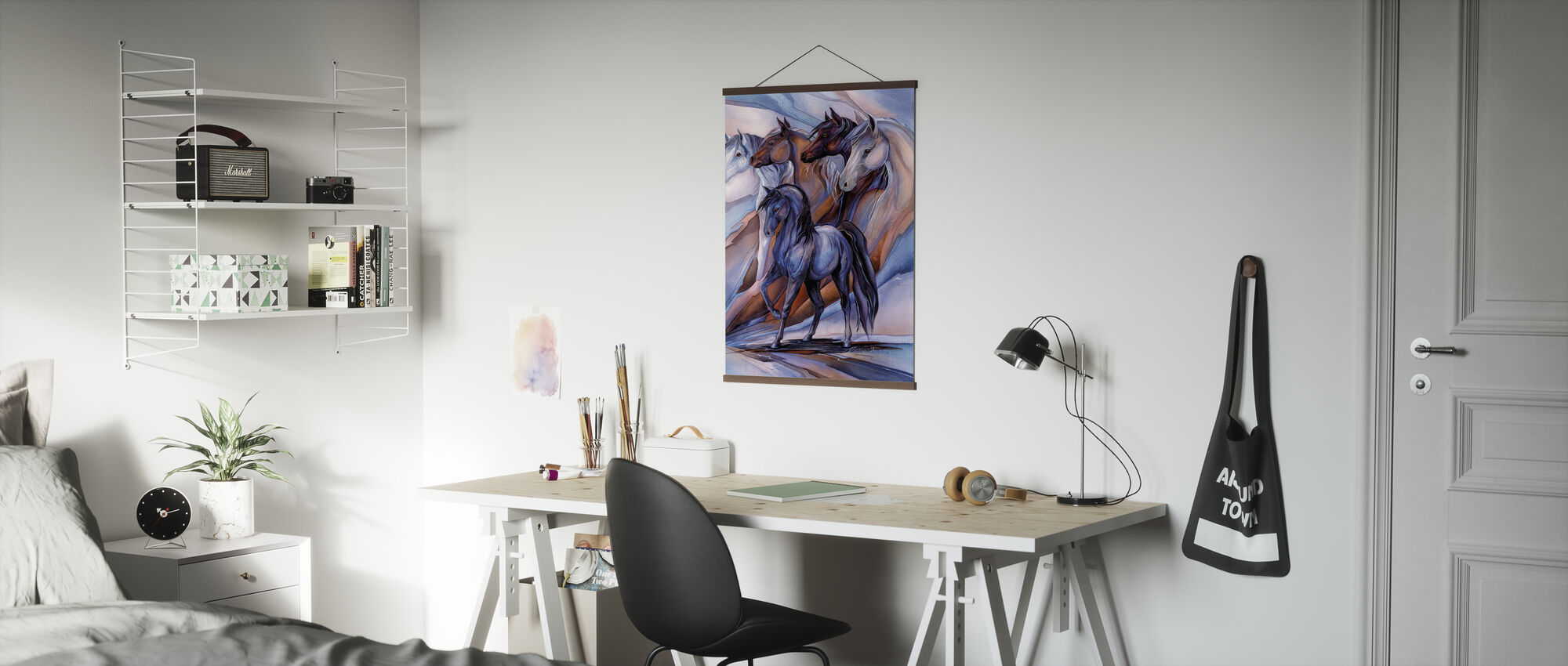Inspired by the Five Horses - Poster - Office