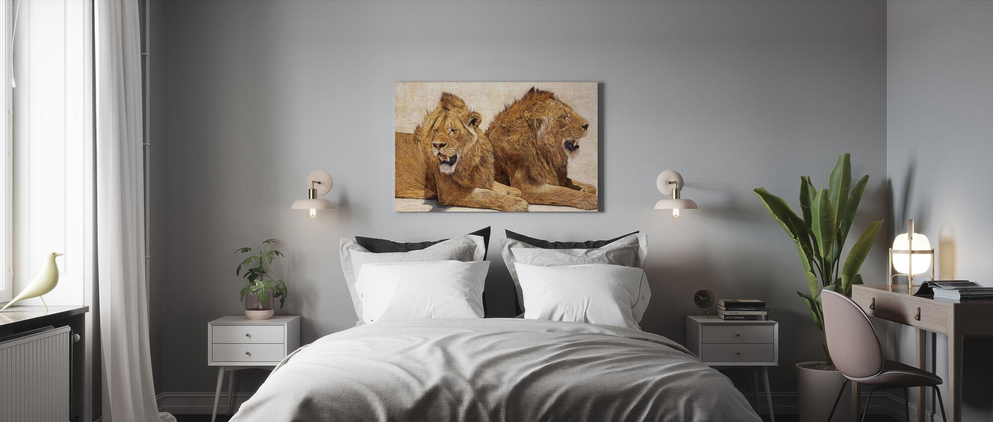 Lions of Ngorongoro - Canvas print - Bedroom