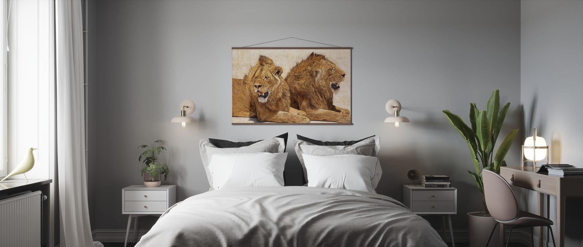 Leeuwen van Ngorongoro - Poster - Slaapkamer