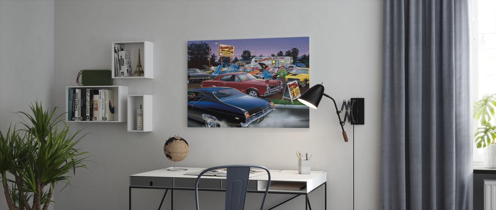 Eerlijke Al's gebruikte auto - Canvas print - Kantoor