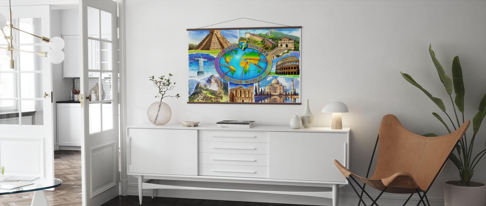 Sieben Weltwunder - Poster - Wohnzimmer