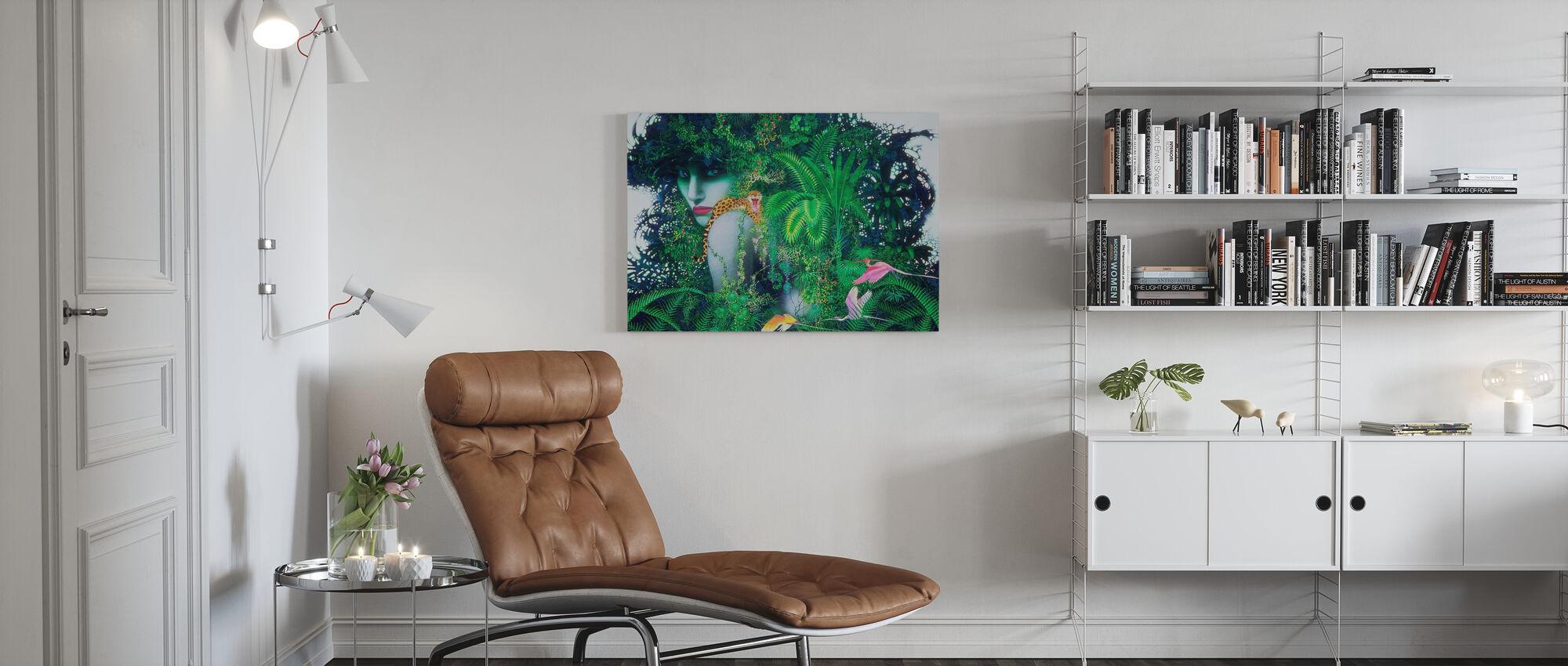 Dame van het bos - Canvas print - Woonkamer