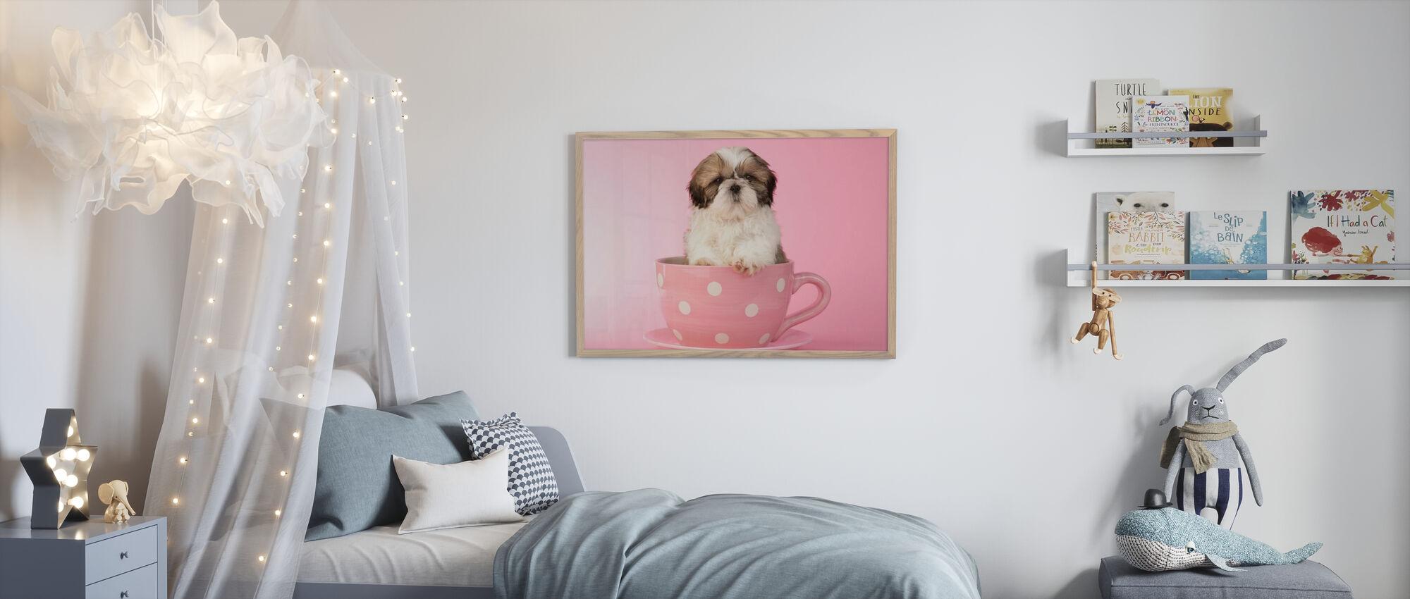 Dog in Cup - Framed print - Kids Room