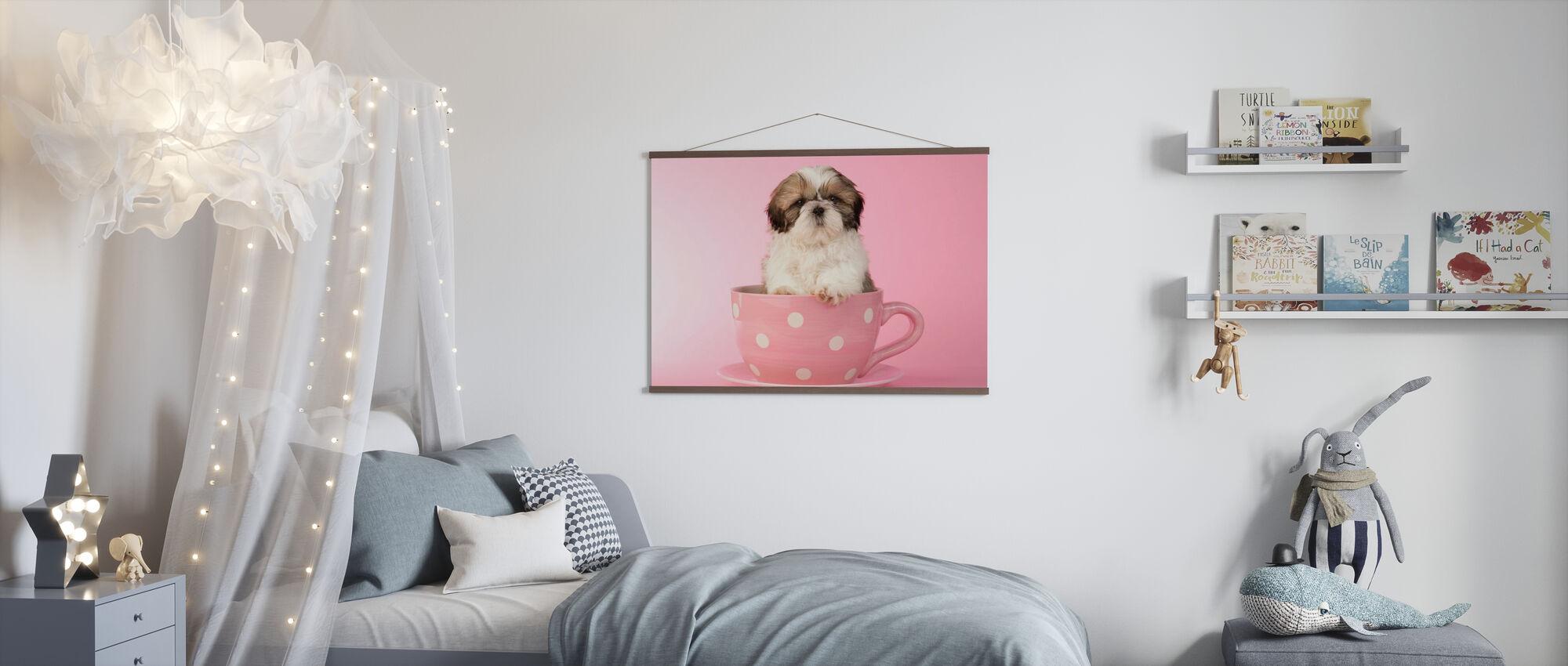 Hund in Tasse - Poster - Kinderzimmer
