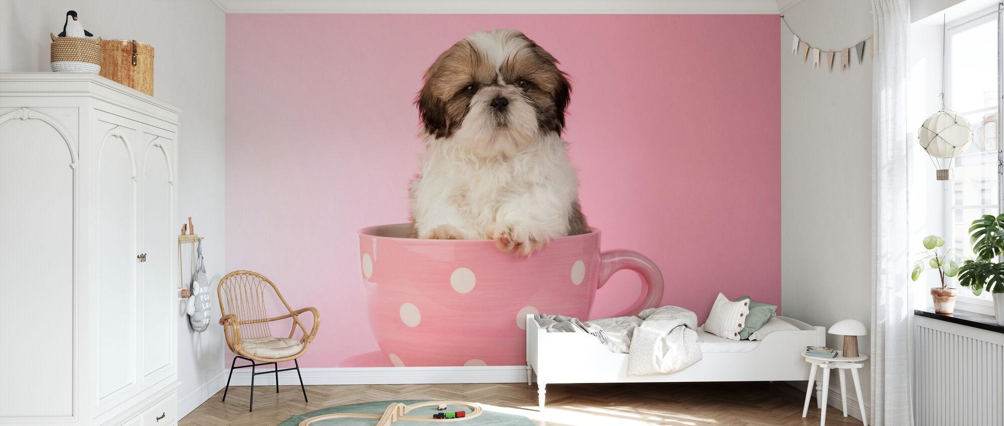 Dog in Cup - Wallpaper - Kids Room