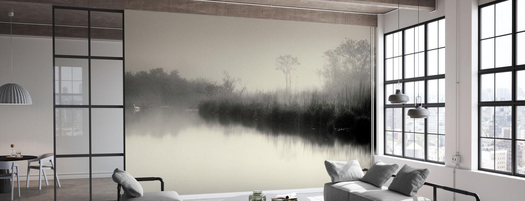 Lac et arbres - Papier peint - Bureau